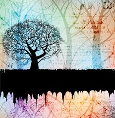 Tree Silhouette Image Text Vector Background - http://www.welovesolo.com/tree-silhouette-image-text-vector-background/