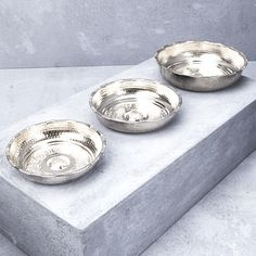 Hand Crafted Nickel Hamam Bowl from INARTISAN