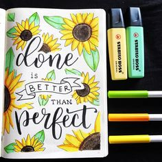 "@pink.cheese.and.jam on Instagram: ""Here's a little quote page to practice my hand lettering and to go with my Sunflower theme 🌻 Its a very appropriate quote for me as…"""