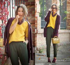 Уличная мода: Красочная осень и яркая зима в модных образах Елены Galant Girl за 2014 год