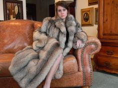 Crystal Fox Fur Coat.
