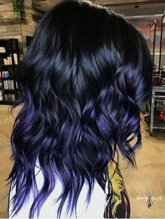 Ombre Hair Color Trends - Is The Silver Style Blue Hair Black Girl, Blue Purple Hair, Ombre Hair Color, Cool Hair Color, Pastel Blue, Grey Ombre, Pastel Hair, Hair Colour, Blue Dip Dye Hair