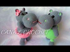hipopótamo amigurumi tutorial - YouTube
