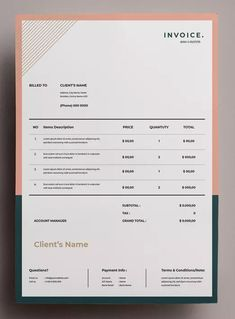 AFR - Invoice by adilbudianto on Envato Elements Invoice Layout, Invoice Design Template, Quote Template, Letterhead Design, Letterhead Template, Templates, Layout Design, Form Design, Web Design