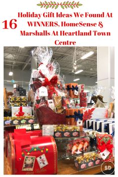 There are plenty of holiday gift ideas to be found at WINNERS, HomeSense, and Marshalls at Heartland Town Centre. Homesense, Marshalls, Heartland, Holiday Gifts, Shopping, Xmas Gifts