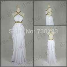 Beach 2014 A-Line Floor-length white Chiffon prom dresses long prom dress backless maxi dress With Sequins