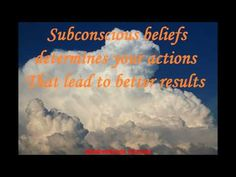 Abraham Hicks - Subconscious beliefs determines your actions that lead to better results - YouTube