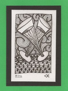 Celebration 012  Original Numbered  Ink Drawing by TicTacTangle, $4.50