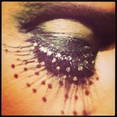 Illamasqua diamanté lashes - Makeup and lashes by Tansie @Tansification #lashification