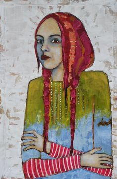 """""""Vulnerable""""--painting by Jane DesRosiers. I've admired her portraits ever since I stumbled upon them."""