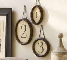 Gorgeous framed numbers!