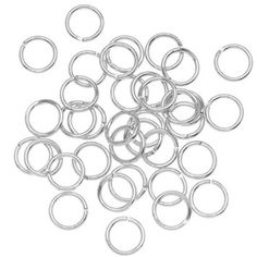 Amazon.com: 7mm Open Jump Rings 20 Gauge - Silver Plated (100): Arts, Crafts & Sewing, $3.65