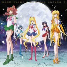 Sailor Moon Crystal's Moon Pride and Moonbow from Momoiro Clover Z! Shopping links here http://www.moonkitty.net/where-to-buy-sailor-moon-crystal-music-reviews.php #SailorMoon #SailorMoonCrystal