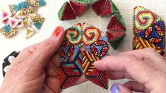 Contemporary Geometric Beadwork : The Flower Face Join for a Simple Kale...