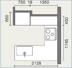 間口を抑えて作業スペースを広く!対面L型キッチン:システムキッチン・流し台・バス・トイレがお得 Floor Plans, Woodworking, House Design, Interior, Kitchen, Home Decor, Home, Cooking, Decoration Home
