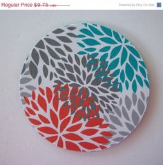 End of Year SALE  mousepad / Mouse Pad / Mat round or by Laa766 chic / cute / preppy / laptop accessory / desk, computer accessory / office decor / gift / patterned design / school