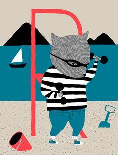 Rosvo reippallee rannalla. Rankkaa raatamista!  by Kati-Marika