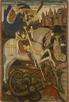 Anonymous. Catalonia - Saint George Slaying the Dragon. End of 15th century | Museu Nacional d'Art de Catalunya