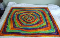 Gorgeous blanket! It looks like it was painted! Pattern found here: http://knitty.com/ISSUEfall08/PATTopart.html