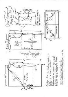 Regata de alcinha com babado no decote contornando o braço. Esquema de modelagem do 36 ao 56.