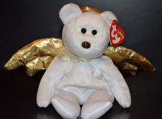 TY Beanie Babies Rare Retired Halo II the Angel Bear Mint w/ Tags 2000 #Ty