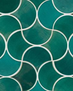 Wave Pattern - Medium Moroccan Fish Scales – 1017W Sea Mist