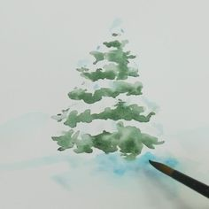 Watercolor a beautiful snowy tree with simple brushstrokes and two colors, adding salt to your wash for an organic, sparkly texture.Looking for more on watercolors? Check out artist Ana Victoria Calderon's Modern Watercolor class for essentials to get you started.