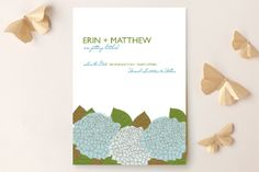Summer Hydrangea Save the Date Cards by Debra Valdez at minted.com
