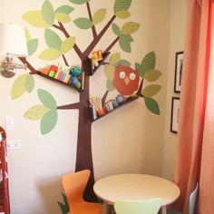 Muurdecoratie boom voor de kinderkamer