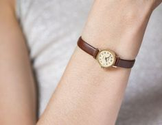 Micro watch gold plated women's watch Seagull petite by SovietEra Vintage Watches Women, Watches For Men, Quartz Watch, Gold Watch, Jewelry Watches, Plating, Buy And Sell, Jewels, Wool Berets