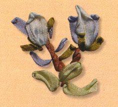 Ponto da fita -O mais comumente usado na arte do bordado do laço, da fita do ponto é adequado para cintos de diferentes larguras. Sua forma pode ser alterado usando a varinha, talão, que é colocada sob ele para que se torne convexa, ou movendo o ponto de entrada, onde a onda é formada. Ele é usado em vários padrões, incluindo imagens de flores, folhas, insetos e aves. Pode ser realizada em qualquer direcção.