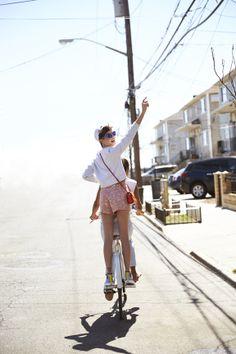 For the love of biking! Kate Spade high waisted shorts! #saturdayisforbikerides