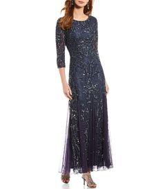 Shop for Pisarro Nights Beaded Lace Gown at Dillard's. Visit Dillard's to find clothing, accessories, shoes, cosmetics & more. The Style of Your Life. Mother Of The Bride Dresses Long, Mothers Dresses, Special Dresses, Dress For Petite Women, Petite Dresses, Elegant Dresses, Beaded Gown, Beaded Lace, Mob Dresses