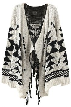 Fancy Geo Knit CardiganOASAP Giveaway, 10 pieces per day, till the end of Easiest way to get free clothing! Long Sweaters For Women, Cardigans For Women, Loose Fitting Tops, Loose Tops, Glamour, Dressy Tops, Knit Cardigan, Shrug Sweater, Long Sleeve Tops