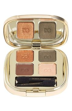 Fall colors gold eyeshadow compact