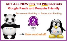 GET UNIQUE PR8 to PR4 Backlink to boost your google ranking http://www.fiverr.com/zacky29/