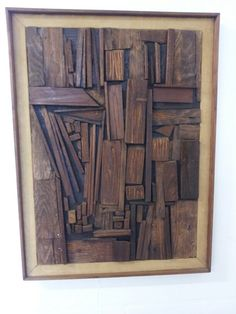 Mid Century Brutalist Wood Art by Harold A. Nosti