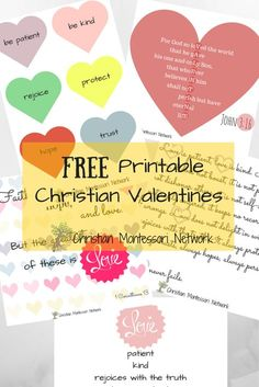 Christian Valentines Printables For Kids. Sunday School LessonsValentine ...