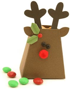 reindeer treat box by Pebbles in my Pocket