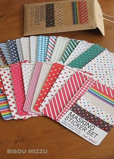27 sheets Masking Stickers Refill