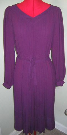 Vintage Spring Nipon Boutique Purple Pleated by annao on Etsy, $75.00