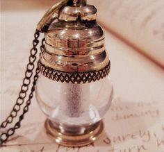 Brass Lantern Necklace