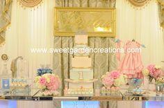 Cinderella sweets, desserts, candy station, favors, elegant set up, sweetgardencreations, Gislene Luz