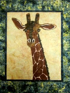 Giraffe quilt....check out the website this is from, great stuff