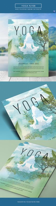 Yoga Flyer  —  PSD Template • Only available here! ? https://graphicriver.net/item/yoga-flyer/17308230?ref=pxcr
