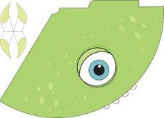 Turquoise Frame: Festa - Monstros S. Monster Inc Party, Monster Co, Monster University Party, Monsters Inc University, Monster Inc Birthday, Monster 1st Birthdays, Kids Night Out, Summer Fest, Paper Toys