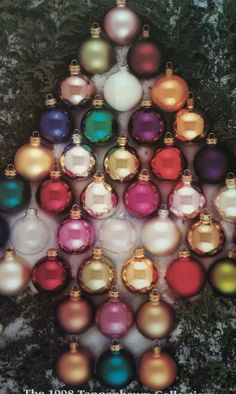 Solid Colored Glass Ornaments