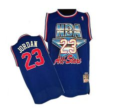 c0843b2a54e Men's Michael Jordan Authentic Blue Jersey: Mitchell and Ness NBA Chicago  Bulls 1992 All Star Throwback
