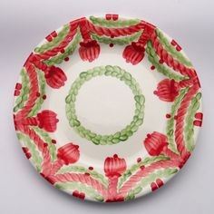 usko Plates, Tableware, Design, Red, Green, Unique, Tablewares, Licence Plates, Dishes