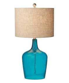 Look what I found on #zulily! Blue Crackle Glass Lamp #zulilyfinds
